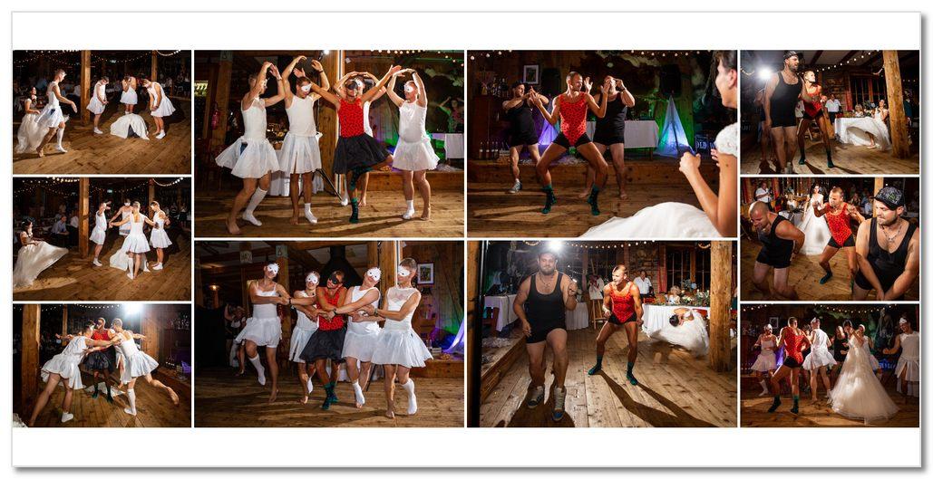 Skupina tančí balet.