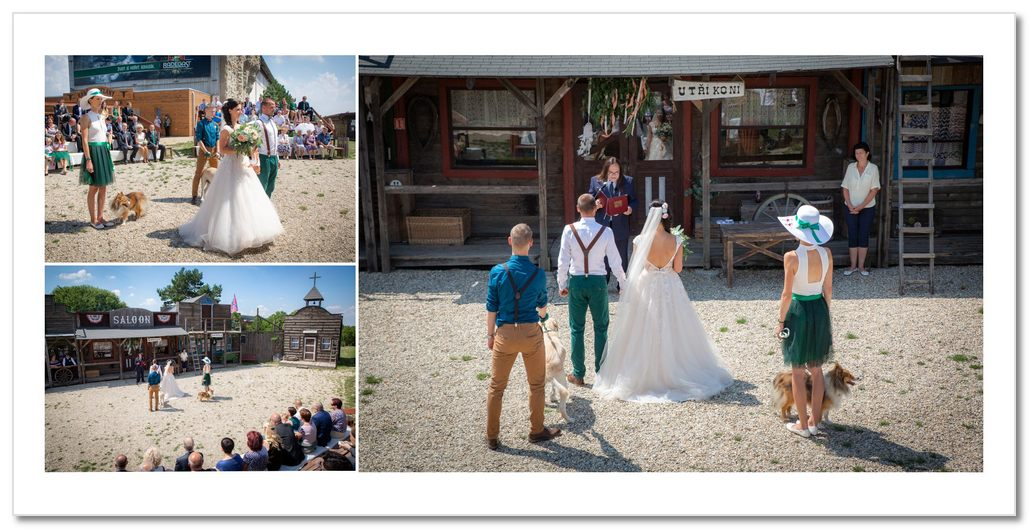 Svatební obřad na Ranči Kostelany