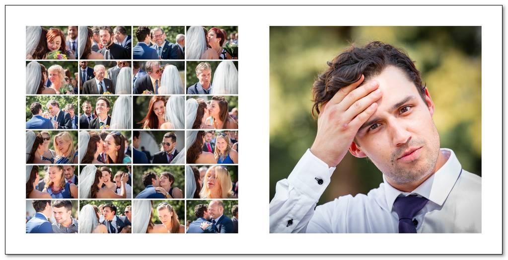 Gratulace novomanželům - koláž.
