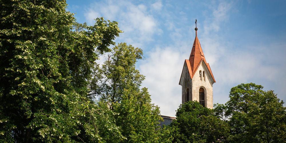 Kostel sv. Havla v Pořící nad Sázavou.