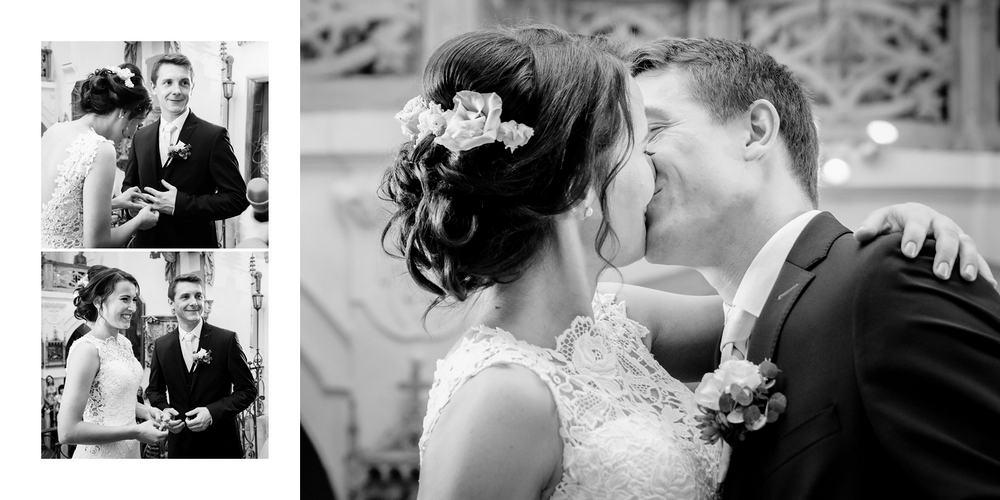 První polibek novomanželů.